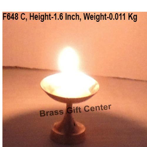 Brass Niranjan Diya Deepak No. 2 - 1.6*1.6*1.6 inch  (F648 C)