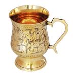 Brass Beer Mug Glass 300 Ml - 53.54.5 Inch  Z266 C