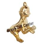 Brass Laddu Gopal God Idol With Brass Finish, Height - 8.6 Inch BS871 F