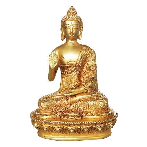 Brass Buddha in Superfine finish - 5*3.3*7.2 inch  (BS079 K)