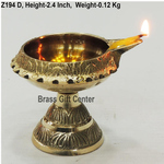 Brass Kuber Deepak Diya With Stand No. 2 - 3*2.5*2.4  Inch  (Z194 D)