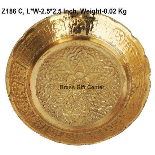 Brass Kachua Tortoise Plate No. 1 - 2.52.5 Inch  Z186 C