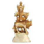 Brass Krishna with Cow Statue Murti Idol - 2*1.6*4.4 Inch  (BS802 B)