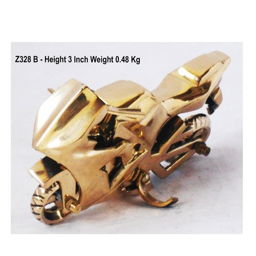 Brass Toy Bike R15 Miniature For Children Playing- 523 iInch  Z328 B