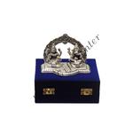 Laxmi Ganesh packed in Blue Velvet Box - 4.5 Inch (AS076)
