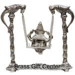 Ganesh Jhula in Silver antique finish - 7 inch AS204 S