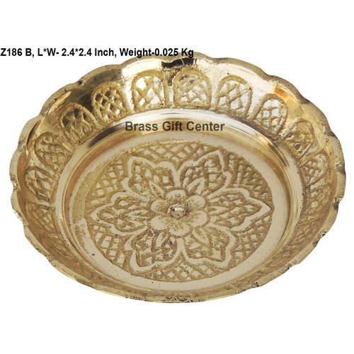 Brass Kachua Tortoise Plate No. 0 - 2.42.4 Inch  Z186 B