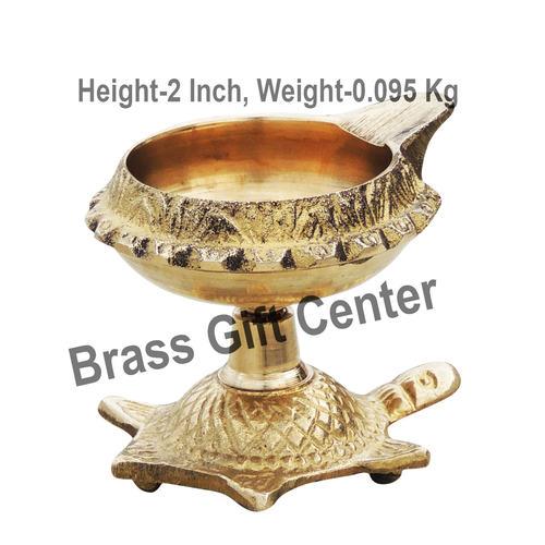 Brass Kuber Tortoise Diya Deepak No. 1 - 2.4*2.1*2 Inch  (Z141 C)