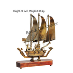 Brass Ship In Antique Lacquer finish - 12 Inch MR172 A