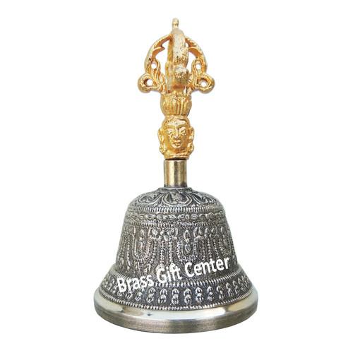 Bronze Kansa Hand Bell - 5 Inch  Z114 B