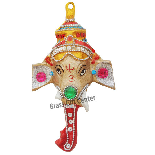 Wall hanging Ganesh face - 8.5 inch AS251 A