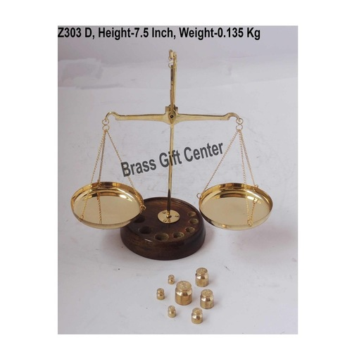 Brass Taarzu 20 gm Weighing Machine - 6.537.5 inch  Z303 D