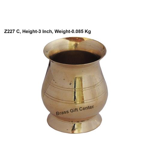 Brass B Lota No. 1_ 100 ml- 2.5*2.5*3 Inch  (Z227 C)