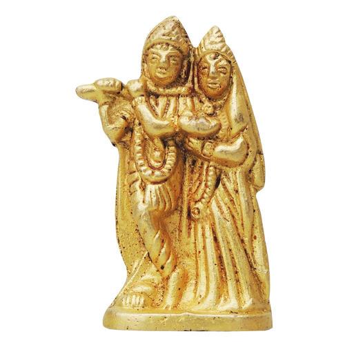Brass Radha Krishna Staute Idol Murti - 1.5*1* 2.2 inch  (BS855 A)