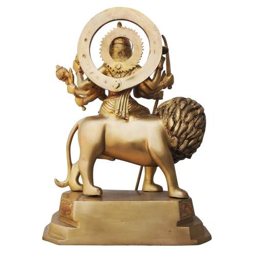 Brass Durga Ji StatueMurtiIdol With Multicolour Lacquer Finish-15.8 Inch  BS617