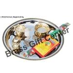 Pooja Thali Steel and brass Z150 C