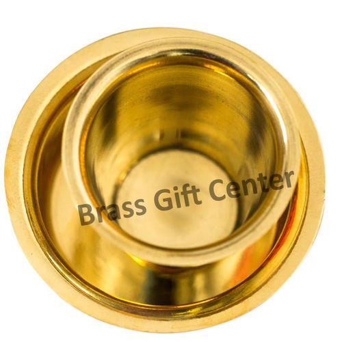 Brass Davra  Davara  Dabara Vati Set Coffee Tumbler Set - 100 ml  BC145 A
