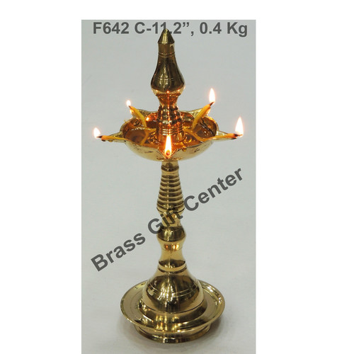 Brass Kerala Fancy Deepak Diya - 11.2 Inch  F642 C