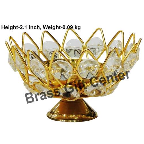 Diya Deepak with Crystal Beads - 3.63.62.1 inch  Z139 C