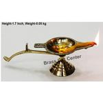 Brass Ek Batti Diya Deepak - 5.5*1.8*1.7 inch  (Z145 B)