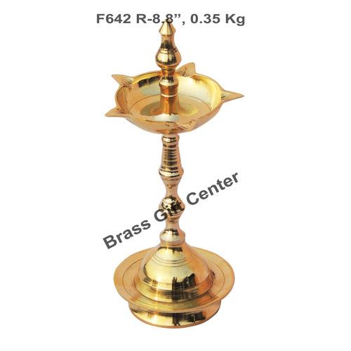 Brass Kerala Fancy Deepak Diya - 8.8 inch  F642 R