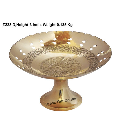 Brass Pan Jali Bata Bowl No. 7 - 6 Inch  (Z228 D)