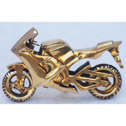 Brass Toy Bike R15 Miniature For Children Playing- 7.524.5 iInch  Z328 D