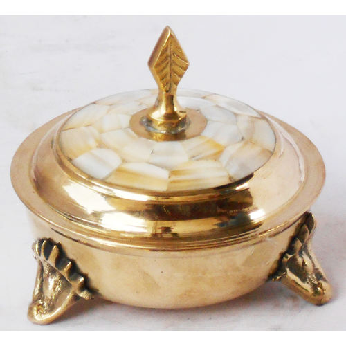 Brass Powder Pot Miniature Toy For Children Playing- 444 Inch Z372 C