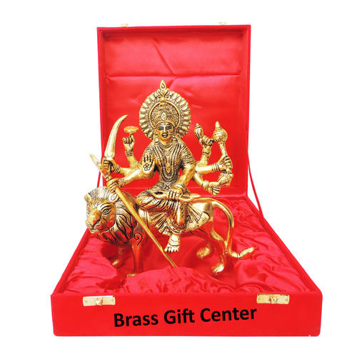 Showpiece Durga Ji Statue With Golden Finish - 9.6 Inch (AS371 G)
