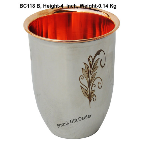Pure Copper and Steel  Glass 240 Ml  BC118 B