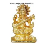 Brass Sarawati Statue Murti idol 220 gm - 213 inch  BS1053 C