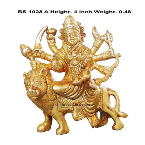 Brass Durga ji Statue Murti idol 500 gm - 2.514 inch  BS1028 A