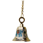 Brass Temple Bell With Handicraft Colour 5 Inch (F514 C)