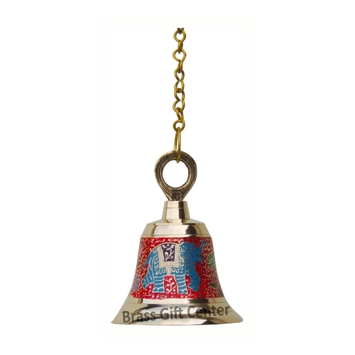 Brass Temple Bell With Handicraft Colour 556.5 Inch  F514 A