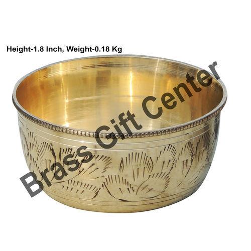 Brass Bowl Katori - 3.8*3.8*1.8 Inch  (Z151 D)