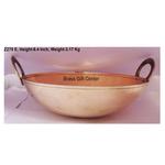 Brass Kadai 3.25 liter - 13*13 Inch  (Z270 E)