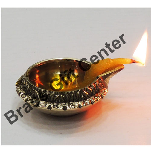 Brass Kuber Diya Deepak No. 0 -  2.5*2*0.9 Inch  (Z140 B)