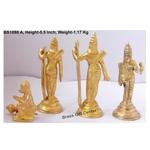 Brass Ram Dharbar Statue Idol Murti - 7x2x5.5 Inch  (BS1098 A)