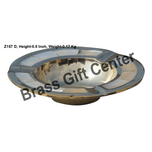 Brass Ash Tray studded With Seep - 440.8 inch  Z157 D