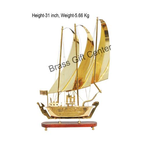 Brass Ship In Shinning Brass Polish finish - 31 Inch MR129 D
