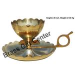 Brass Diya Deepak Sampat Jyoti No. 3 - 5.7*4.4*2.9 inch  (Z149 D)