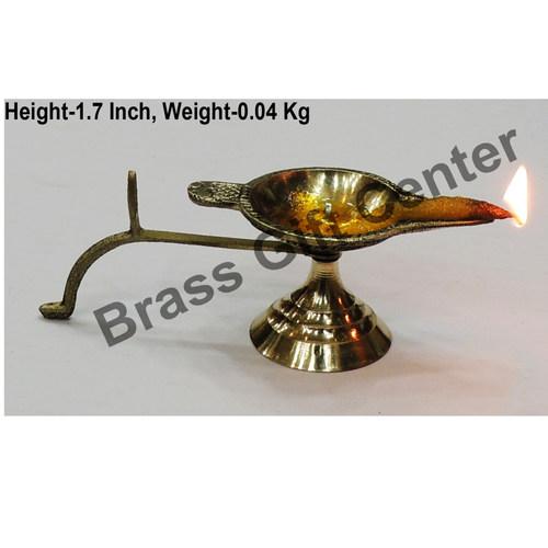 Brass Ek Batti Diya Deepak - 4.6*1.6*1.7 inch  (Z145 A)