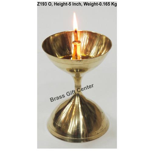 Brass Akand Diya Deepak No. 15 - 3.6*3.6*5 Inch  (Z193 O)