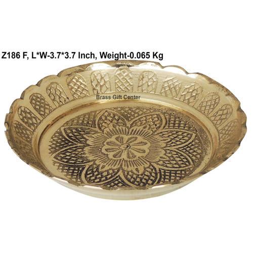 Brass Kachua Tortoise Plate No. 3.5 - 3.73.7 Inch  Z186 F