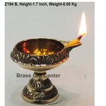 Brass Kuber Deepak Diya With Stand No. 0 - 2.1*1.7*1.7 Inch  (Z194 B)