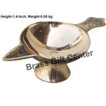 Brass Laxmi Deepak Diya No. 3   - 4.2 Inch  F626 D