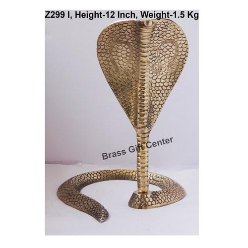 Brass Snake Saap For Shivling - 9.510.512 Inch  Z299 I