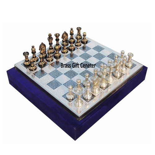 Brass Chess In Black and White Finish - 1212 Inch  BS363 C