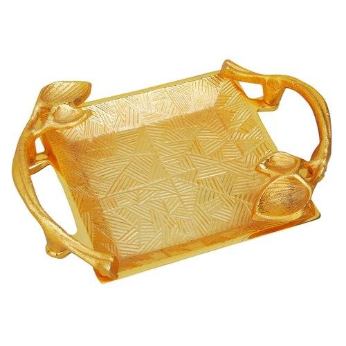 Aluminium Metal Tray Serving Platter in Gold Finish - 96.5 Inch  A32359