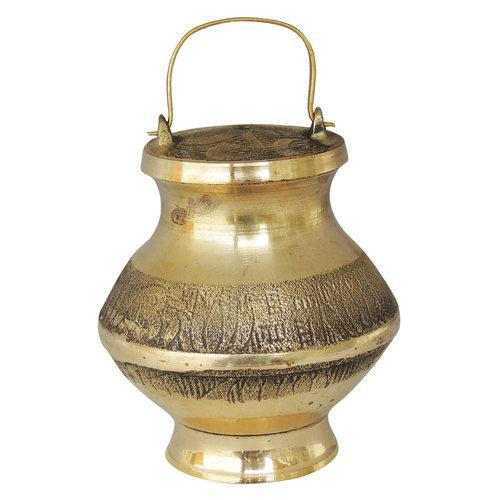 Brass Ganga Jali Ganga JAL Patra No. 7 130 ml 2.8*2.8*4 Inch  (Z200 R)